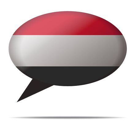 spech bubble: Illustration Speech Bubble Flag Yemen