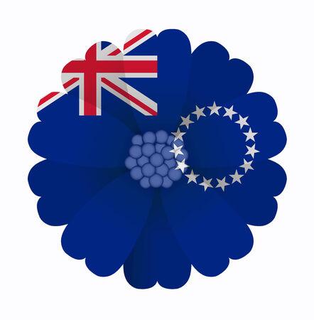 illustration of flower Flag Cook Islands
