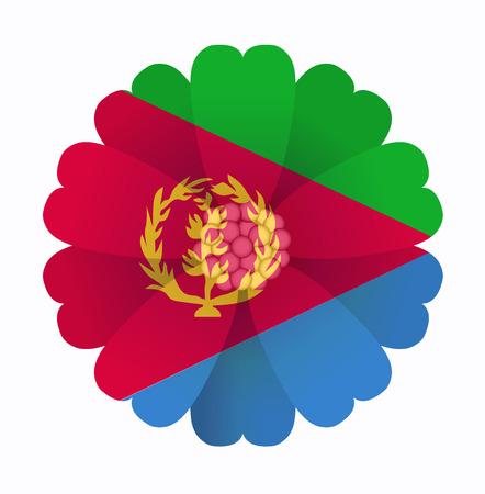 eritrea: illustration of flower Flag Eritrea