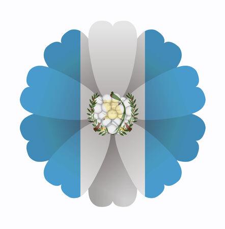 guatemala: illustration of flower Flag Guatemala Illustration