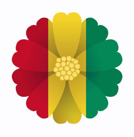 guinea: illustration of flower Flag Guinea