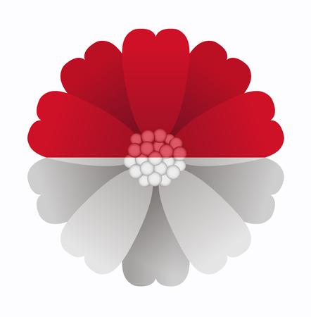 illustration of flower Flag Monaco Vector