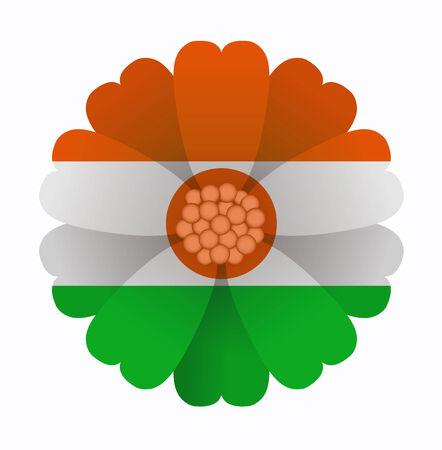 niger: illustration of flower Flag Niger