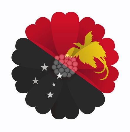 papouasie: illustration de fleurs Drapeau Papouasie-Nouvelle-Guin�e Illustration
