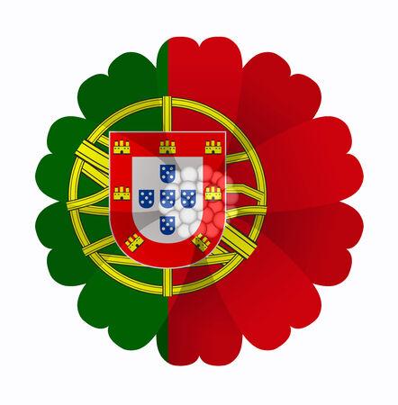 bandera de portugal: ilustraci�n de la flor de la bandera de Portugal