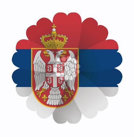 serbien: Darstellung von Blumen Flag Serbia
