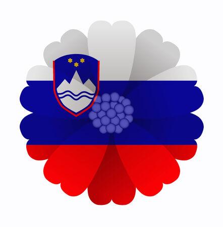 illustration of flower Flag Slovenia