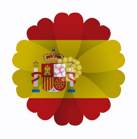 illustration of flower Flag Spain Vector