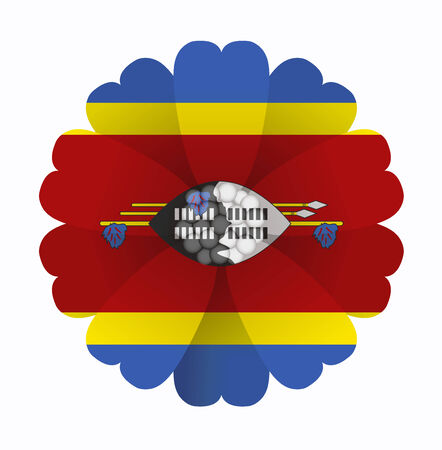 swaziland: illustration of flower Flag Swaziland