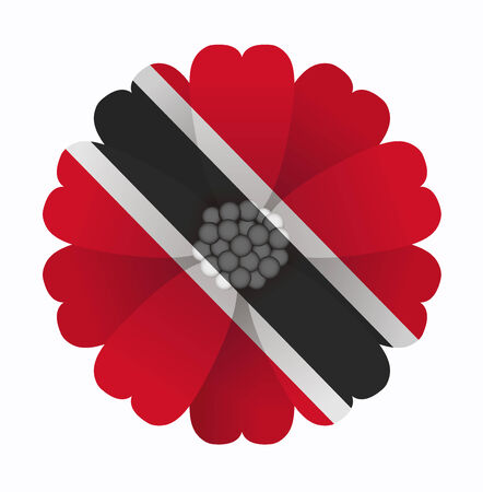 trinidad: illustration of flower Flag Trinidad and Tobago