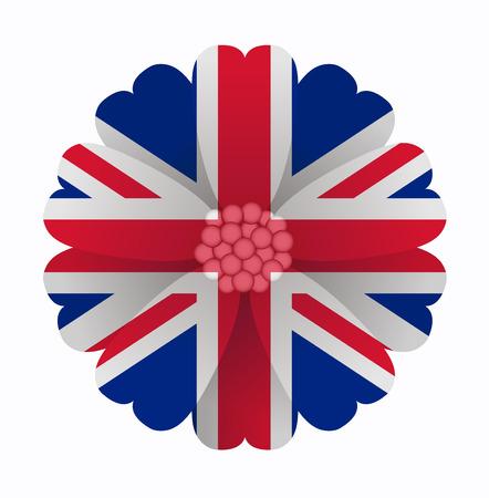 illustration of flower Flag United Kingdom