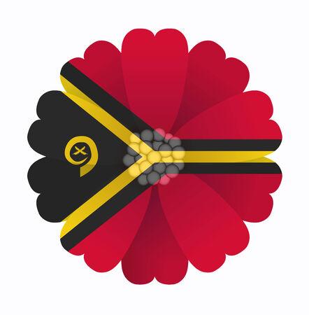 vanuatu: illustration of flower Flag Vanuatu