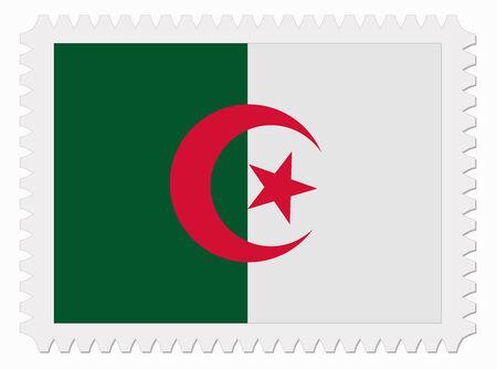 algeria: illustration Algeria flag stamp