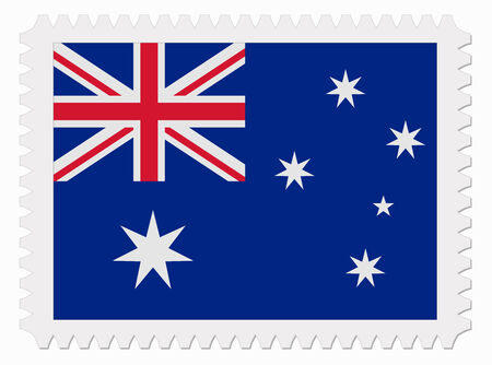 australia stamp: illustration Australia flag stamp