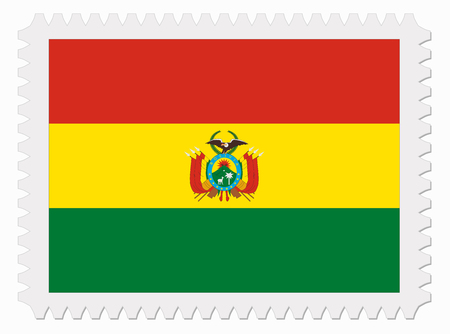 bandera de bolivia: ilustraci�n Bolivia sello de bandera Vectores