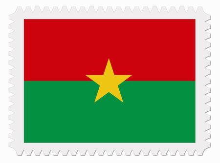 burkina faso: illustration Burkina Faso flag stamp