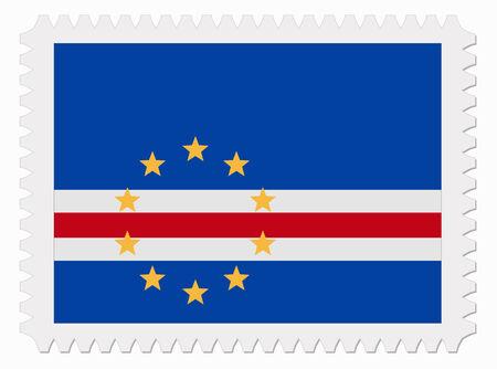 cape verde: illustration Cape Verde flag stamp