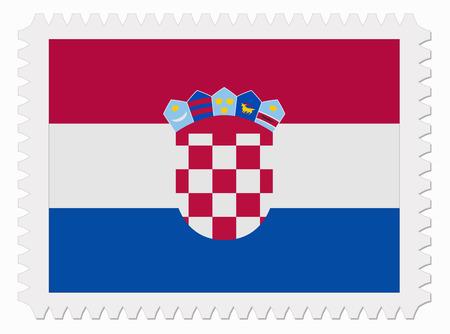 croatia flag: illustration Croatia flag stamp