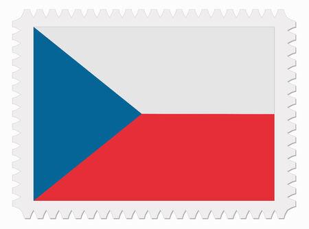 czech flag: illustrazione ceco timbro di bandiera