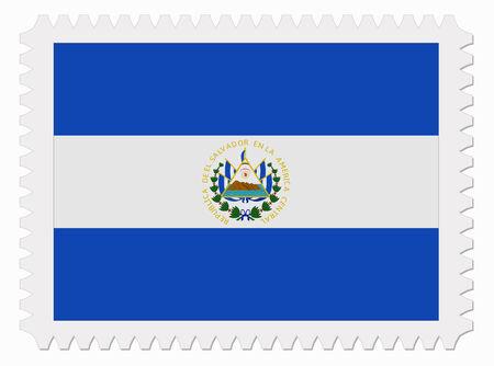 el salvador flag: illustration El Salvador flag stamp