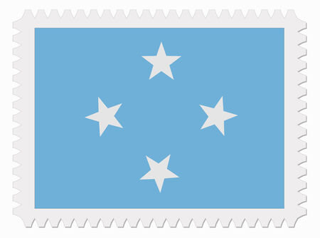 micronesia: illustration F.S. Micronesia flag stamp