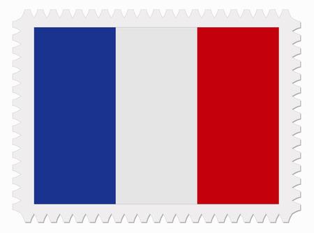 illustration France flag stamp