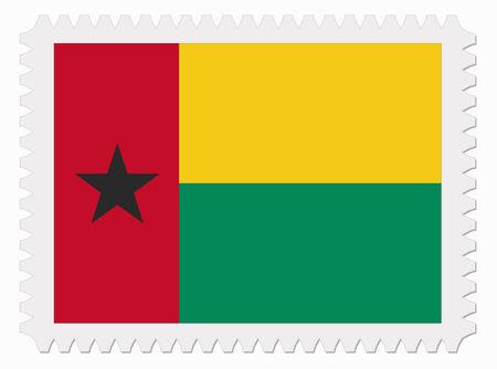 guinea bissau: illustration Guinea Bissau flag stamp