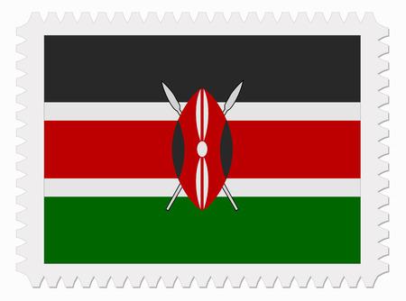 kenya: illustration Kenya flag stamp