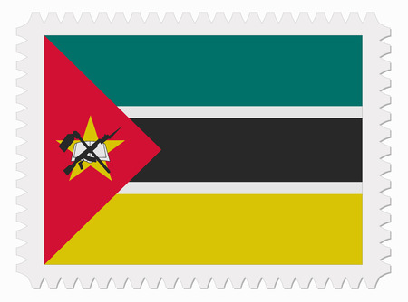 mozambique: illustration Mozambique flag stamp