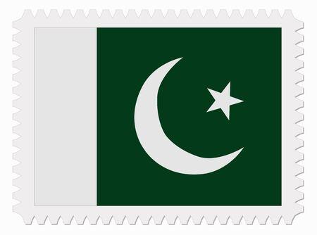 pakistan flag: illustration Pakistan flag stamp Illustration