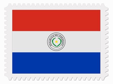 bandera de paraguay: ilustraci�n sello de bandera del Paraguay