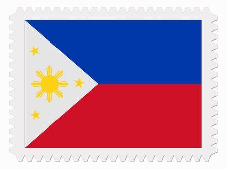 illustration Philippines flag stamp