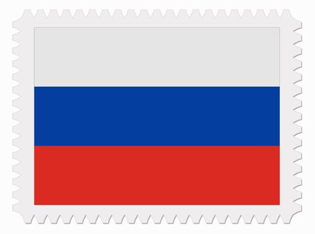 flag of russia: illustration Russia flag stamp