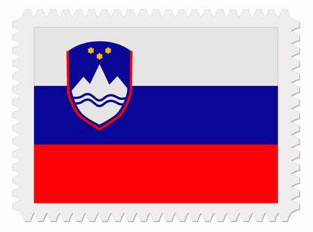slovenia: illustration Slovenia flag stamp