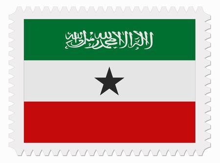 somaliland: illustration Somaliland flag stamp Illustration
