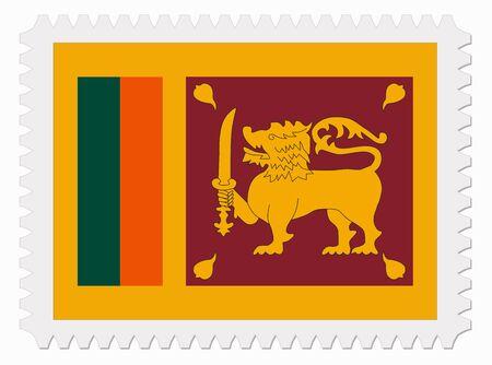 sri: illustration Sri Lanka flag stamp Illustration
