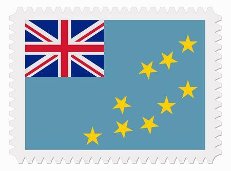 tuvalu: illustration Tuvalu flag stamp