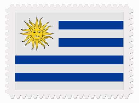 Uruguay flag: ilustraci�n Uruguay sello de bandera