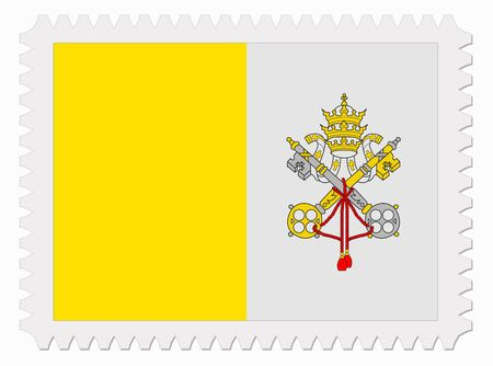 vatican city: illustration Vatican City flag stamp Illustration