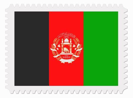 afghanistan': illustration Afghanistan flag stamp