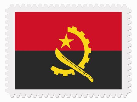 angola: illustration Angola flag stamp