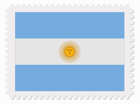 argentina flag: illustration Argentina flag stamp Illustration