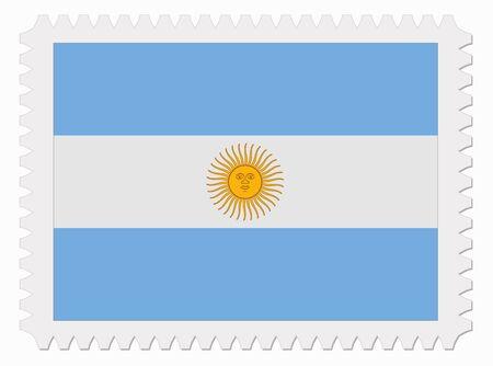 bandera argentina: ilustraci�n sello de bandera Argentina