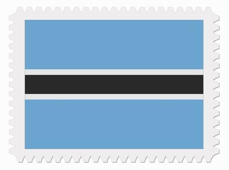 botswana: illustration Botswana flag stamp Illustration