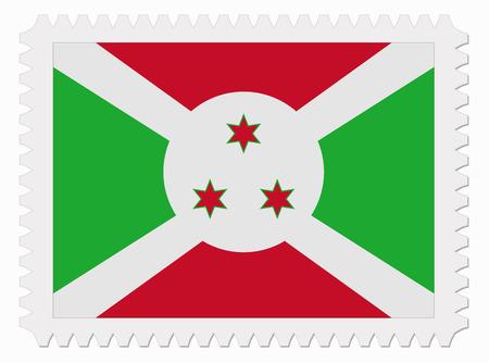 burundi: illustration Burundi flag stamp