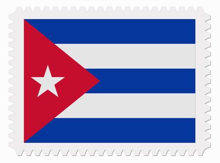 cuba flag: illustration Cuba flag stamp Illustration
