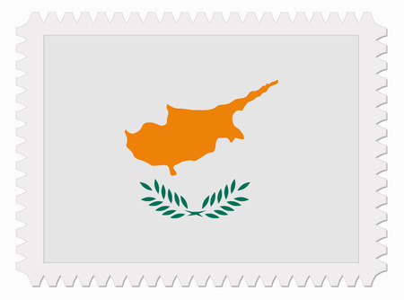 cyprus: illustration Cyprus flag stamp Illustration