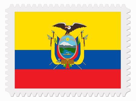 ecuador: illustration Ecuador flag stamp Illustration