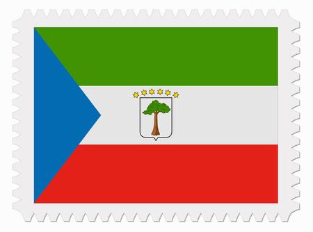 equatorial: illustration Equatorial Guinea flag stamp Illustration