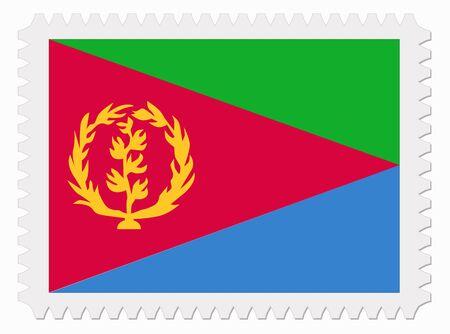 eritrea: illustration Eritrea flag stamp Illustration